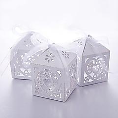 preiswerte Gastgeschenk Boxen & Verpackungen-50 Stück / Satz gefallen Halter-kreative Karte Papier gefallen Boxen mit Band Laser geschnitten nicht-personalisierte diy Baby-Dusche begünstigt