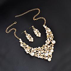 cheap Jewelry Sets-Women's Rhinestone Imitation Pearl Jewelry Set - Personalized Unique Design Pendant Basic British Euramerican Fashion Simple Style Others