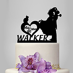 cheap Cake Toppers-Cake Topper Classic Theme Romance Wedding Classic Couple Plastic Wedding Anniversary with 1 Poly Bag