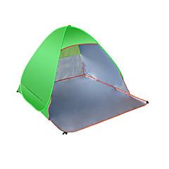 billige Telt og ly-3-4 personer Telt Enkelt camping Tent Ett Rom Strandtelt Ventilasjon Fukt-sikker Bærbar Ultraviolet Motstandsdyktig Anti-Stråling Telt til