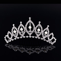 cheap Party Headpieces-Crystal Rhinestone Alloy Tiaras 1 Wedding Special Occasion Party / Evening Headpiece