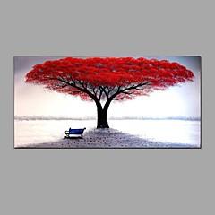 billiga Oljemålningar-Hang målad oljemålning HANDMÅLAD - Blommig / Botanisk Abstrakt Inkludera innerram / Sträckt kanfas