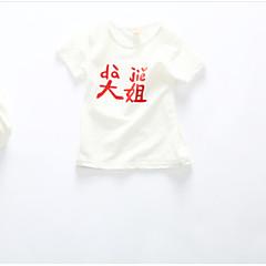 billige Babyoverdele-Baby Børne T-shirt Lolita Tegneserie Orange Rød Lyserød Gul Rosa