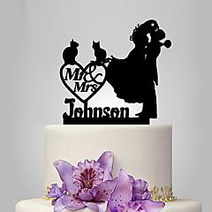 Kakepynt Klassisk Par Bryllup Klassisk Tema Romantik Bryllup Polyester Veske