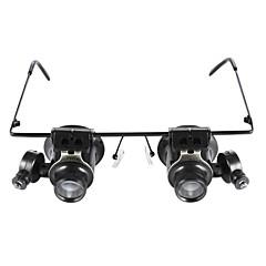 ochelari tip 20x lupa cu lumina LED alb