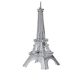 cheap -3D Puzzles Jigsaw Puzzle Metal Puzzles Rectangular Tank Castle Famous buildings Architecture Aluminium Metal Kid's Boys' Unisex Gift