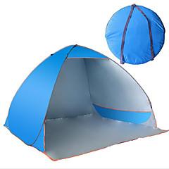 billige Telt og ly-3-4 personer Telt camping Tent Strandtelt Vanntett Ultraviolet Motstandsdyktig til Lerret CM