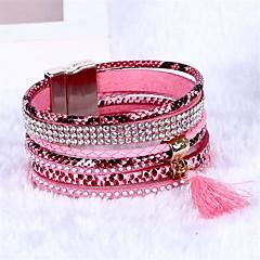 Pentru femei Bratari Wrap Bohemia Stil Piele Round Shape Bijuterii Pentru Nuntă Petrecere Logodnă Casual Stradă