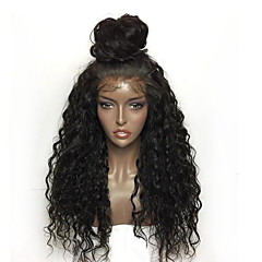cheap Wigs & Hair Pieces-Synthetic Lace Front Wig Women's Kinky Curly / Deep Curly Black Layered Haircut / Free Part Synthetic Hair with Baby Hair / Heat Resistant / Natural Hairline Black Wig Long Lace Front Red Pink