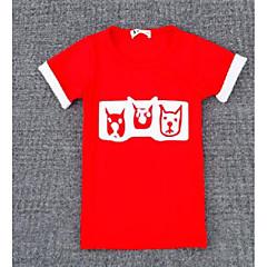 baratos Roupas de Meninas-Para Meninas Estampa Colorida / Outro Manga Curta Outros Camiseta Preto 140