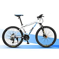 אופני הרים רכיבת אופניים 27 מהיר 27 אינץ ' MICROSHIFT 24 דיסק בלימה כפול מזלג שיכוך שלדת סגסוגת אלומיניום אלומיניום אלומיניום