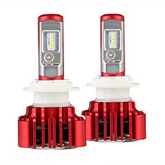hesapli -Gece göz 2pcs / set araba farları h7 led oto ampul 60w 8000lm otomobiller far 6000k 12v led blub h7 led araba kafa ışıkları