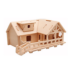 cheap -3D Puzzles Jigsaw Puzzle Wood Model Plane / Aircraft Famous buildings House Architecture 3D DIY Wood Classic Unisex Gift
