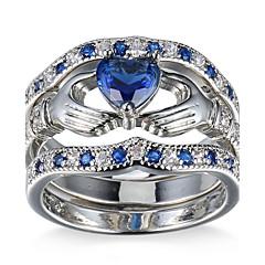 preiswerte -Damen Ringformen Bandringe Ring KubikzirkoniaBasis Einzigartiges Design Kreis Freundschaft Rock Hypoallergen Multi-Wege Wear nette Art