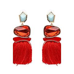 cheap -Women's Tassel Drop Earrings - Luxury, Tassel, Punk Green / Blue / Pink For Party / Graduation / Daily / Oversized