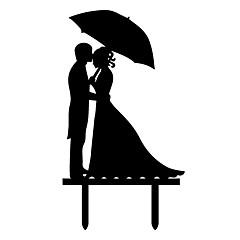 billige Kakedekorasjoner-Kakepynt Strand Tema Hage Tema Sommerfugl Tema Klassisk Tema rustikk Theme Vintage Theme Bryllup Klassisk Par Plast Bryllup Fest Spesiell