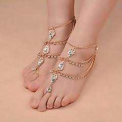 Femme Bracelet de cheville/Bracelet Cristal Alliage Mode Forme d'Etoile Bijoux Pour Décontracté Sport de détente