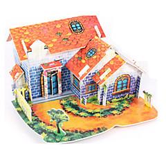billige -3D-puslespill / Puslespill / Papirmodell Hus GDS Høy kvalitet papir Klassisk Barne Unisex / Gutt / Jente Gave