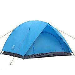 billige Telt og ly-3-4 personer Telt Dobbelt Lagdelt camping Tent Utendørs Vanntett, Regn-sikker, Fort Tørring til Camping & Fjellvandring >3000 mm Glass Fiber, Terylene