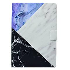 baratos -Caso para apple ipad pro 10.5 9.7 '' portador de cartão de capa com padrão de stand de corpo inteiro mármore hard pu couro ipad (2017) 2 3