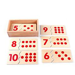 Χαμηλού Κόστους Παιχνίδια εκμάθησης μαθηματικών-Εκπαιδευτικές κάρτες Εργαλεία διδασκαλίας Μοντεσσόρι Τουβλάκια Μαθηματικά παιχνίδια Εκπαιδευτικό παιχνίδι Τετράγωνο Φιλικό προς το