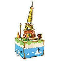 Holzpuzzle Spielzeuge Turm Berühmte Gebäude Zeichentrick Heimwerken Kinder Stücke