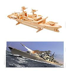 baratos -Quebra-Cabeças 3D Quebra-Cabeça Modelos de madeira Barco de Guerra Porta-Aviões De madeira Porta-Aviões Crianças Unisexo Dom