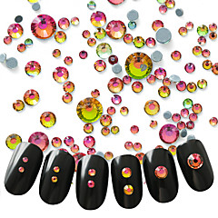 300 Nail Art Decoration tekojalokivi Pearls meikki Kosmeettiset Nail Art Design