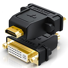 HDMI 2.0 Adapter, HDMI 2.0 to DVI Adapter Hann - hunn Forgylt kobber