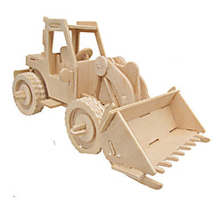 cheap -3D Puzzle Jigsaw Puzzle Wood Model Car Simulation DIY Wood Classic Construction Truck Set Kid's Adults' Unisex Gift