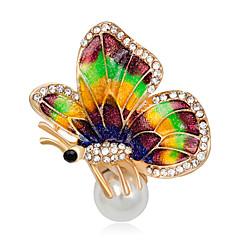 Dámské Dívčí Brože Jedinečný design Módní Rozkošný Euramerican Ručně vyrobeno Slitina Animal Shape Šperky ProZvláštní příležitosti