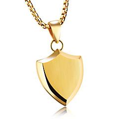 povoljno Muške ogrlice-Muškarci Ogrlice s privjeskom - Titanium Steel Statement Zlato, Obala, Crn Ogrlice Jewelry Za Party, Rođendan, Zabava / večer