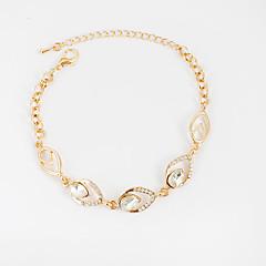 Bracelet Chain Bracelet Tennis Bracelet Alloy Rhinestone Irregular Inspirational Birthday Gift Daily Casual Jewelry Gift Gold Silver,1pc