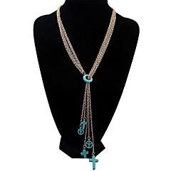 Mulheres Colares em Corrente colares em camadas Jóias Imitação de Diamante Jóias LigaBásico Circular Original Acrilíco Amizade EUA