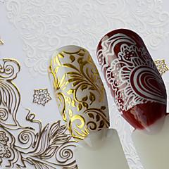 baratos -1 Adesivos para Manicure Artística Estampado Artigos DIY Adesivo maquiagem Cosméticos Designs para Manicure