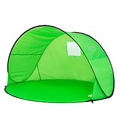2 사람 텐트 싱글 캠핑 텐트 원 룸 비치 텐트 자외선 방지 비 방지 먼지 방지 용 캠핑 & 하이킹 1000-1500 mm 폴리에스테르 CM