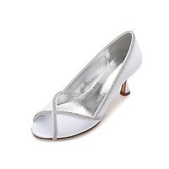 8d2f14cfafc Dámské Boty Satén Jaro   Léto Lodičky   Pohodlné Svatební obuv Nízký tenký    Nízký podpatek   Vysoký úzký S otevřeným palcem Štras
