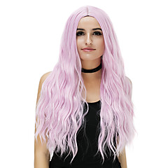 cheap Wigs & Hair Pieces-Synthetic Wig Women's Loose Wave Blue Synthetic Hair Blue / Blonde / Pink Wig Long Capless Rose / Green Silver Purple Gold Pink / Brown / Gray