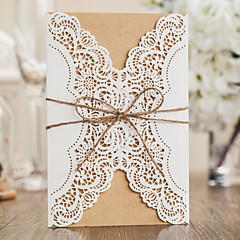 cheap Wedding Invitations-Wrap & Pocket Wedding Invitations 20 - Invitation Cards Classic Style Embossed Paper