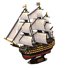 billige -3D-puslespill Puslespill Krigsskip Skip Naturlig Tre Unisex Gave