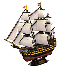 billige Puslespill i tre-3D-puslespill Puslespill Krigsskip Skip Naturlig Tre Unisex Gave
