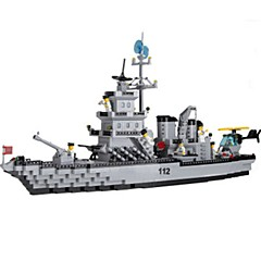 tanie Klocki magnetyczne-ENLIGHTEN Klocki Model Bina Kitleri Lotniskowiec Dla chłopców Dla obu płci Zabawki Prezent