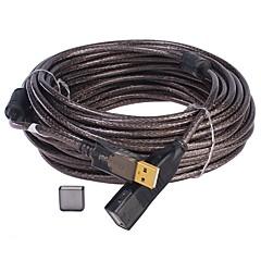 Χαμηλού Κόστους USB-USB 2.0 Καλώδιο επέκτασης, USB 2.0 to USB 2.0 Καλώδιο επέκτασης Αρσενικό - Θηλυκό 25.0m (80ft)
