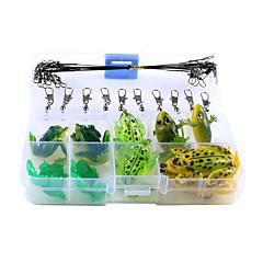 cheap Fishing Lures & Flies-30 pcs Lure kits Frog Silicon Rubber Kits Sea Fishing / Bait Casting / Ice Fishing / Spinning / Jigging Fishing / Freshwater Fishing / Carp Fishing / Bass Fishing