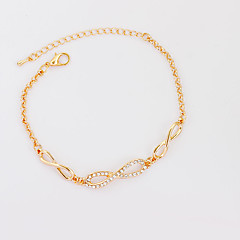 cheap Bracelets-Women's Bowknot Chain Bracelet Tennis Bracelet - Fashion Bowknot Gold Silver Bracelet For Birthday Gift