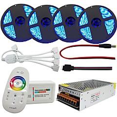 billiga Dekorativ belysning-20m Ljusuppsättningar 1200 lysdioder 5050 SMD RGB Fjärrkontroll / Klippbar / Bimbar 100-240 V