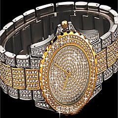 女性用 ファッションウォッチ ブレスレットウォッチ ダミー ダイアモンド 腕時計 宝飾腕時計 日本産 クォーツ 多色 模造ダイヤモンド ステンレス バンド チャーム ぜいたく 光沢タイプ 水玉柄 クリエイティブ カジュアル Elegant シルバー ゴールド ローズゴールド
