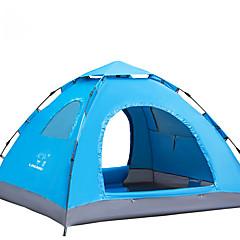 billige Telt og ly-LINGNIU® 3-4 personer Telt Enkelt camping Tent Ett Rom Automatisk Telt Varm Vanntett Solkrem til Camping & Fjellvandring <1000mm Sølv Bånd