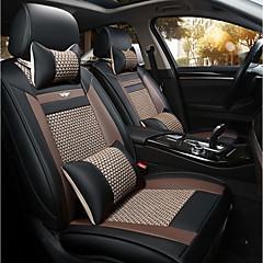 billige Setetrekk til bilen-Det nye bilsetepute skinnsete dekselet fire sesonger generelt is rundt fem seter til 2 sete nakkestøtte rygg svart grå