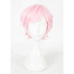 cheap Wigs & Hair Pieces-Synthetic Wig / Cosplay Wig Straight Pink Synthetic Hair Faux Locs Wig Pink Wig Short Capless Pink